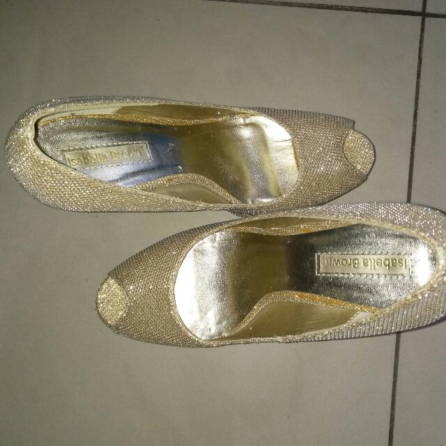 High Gold Heels 12cm