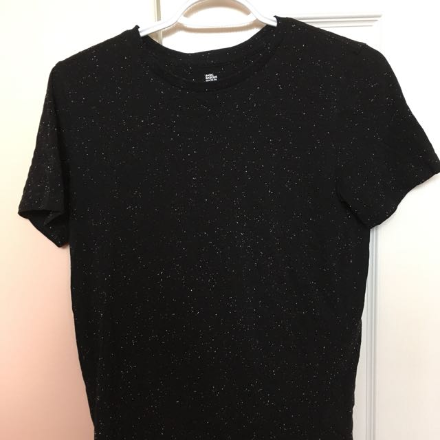 H&M Black Tee w/ White Dots
