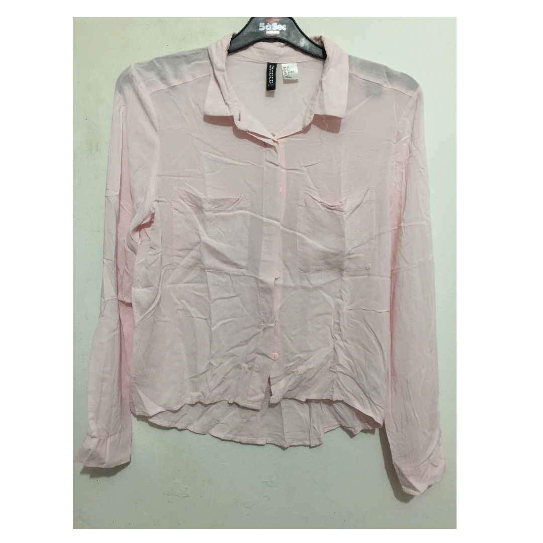 H&M Blouse Baby Pink