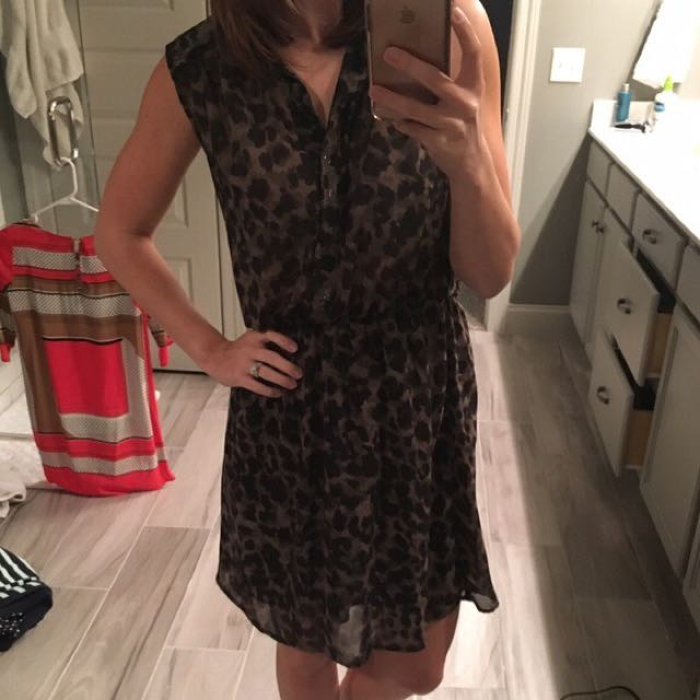 H&M Sleeveless Collared Button Down Dress
