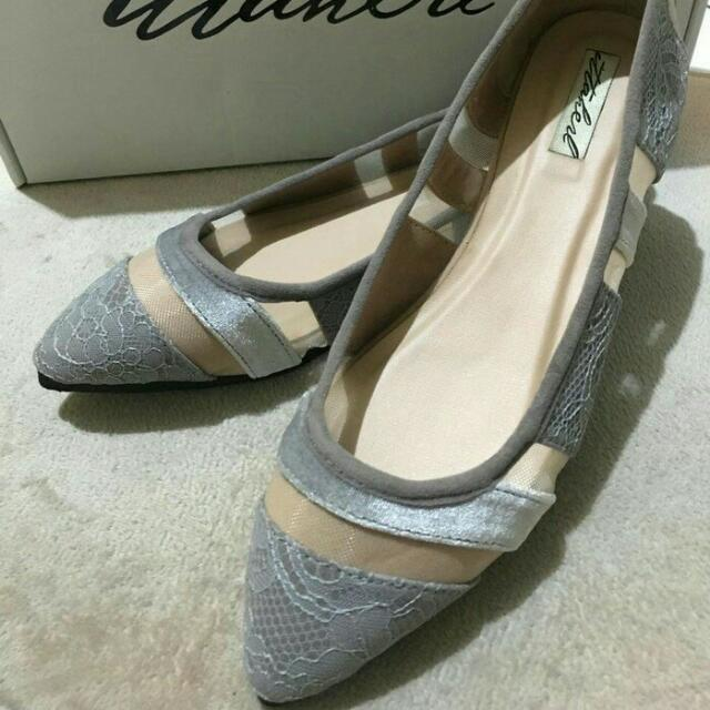 Ittaherl Candice Pointy Size 37 Grey - Sepatu