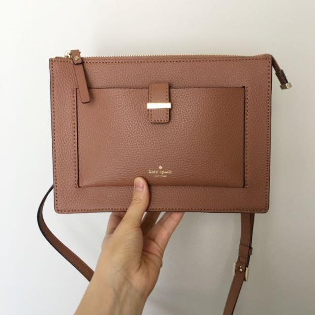 Kate Spade Leonard Street Clarise Crossbody Bag in Rustic Toffee