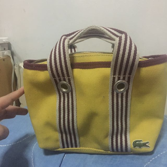 Lacoste Yellow Lunch Bag