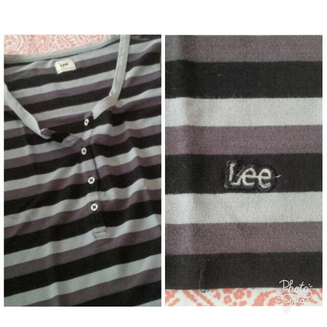 LEE Black & Gray Buttoned Shirt