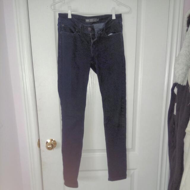 Levi's Dark Blue Demi Curve Low Rise Skinny Jeans