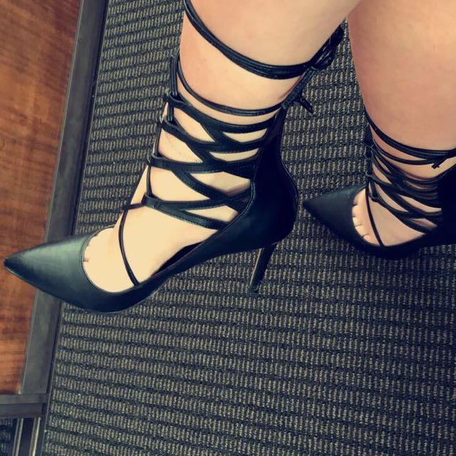 Lipstick Strap Heels