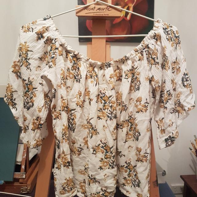 Luck And Trouble Off Shoulder Top