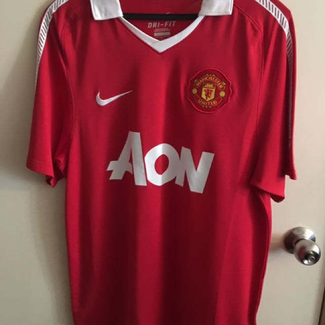 new style 7e54f 62250 Manchester United Official Home Kit Season 11/12 Jersey