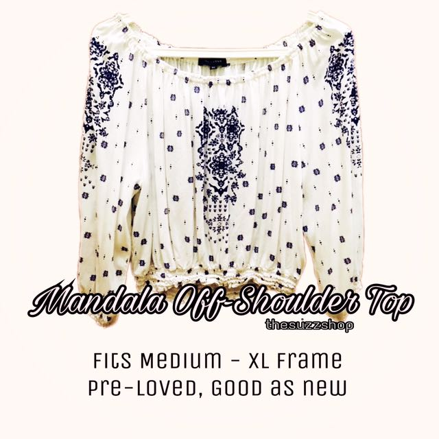 Mandala Off-Shoulder Top