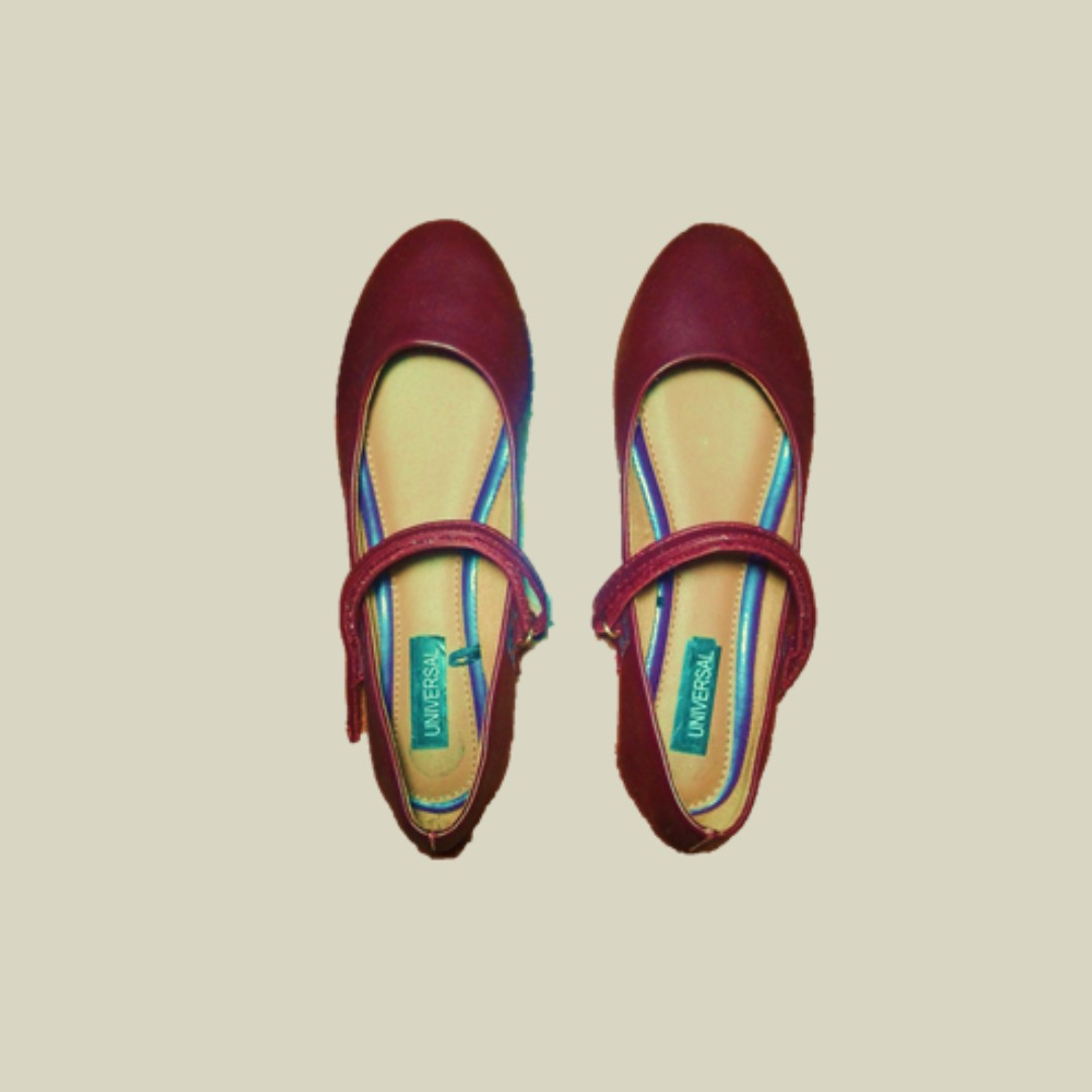 Maroon Doll Shoes (Mary Janes)