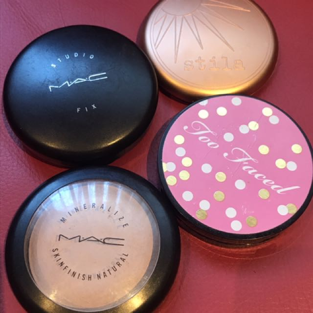 MINERAL SKINS FINISH MAC, STILLA BRONZE , TOO FACED eyeshadows & BLUSH