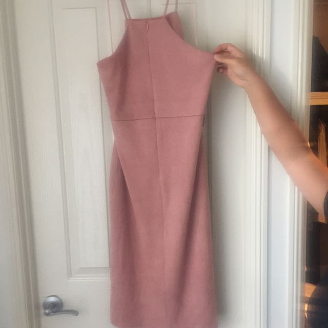 Miss Guided Taupe Dress