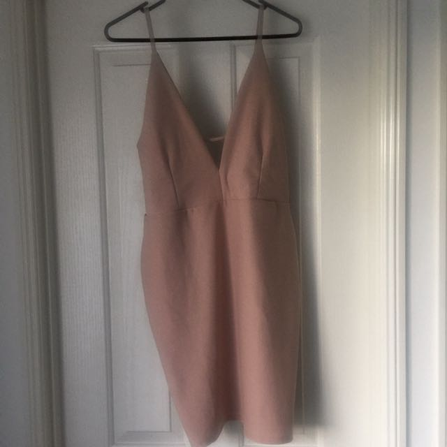 MissGuided Taupe Dress
