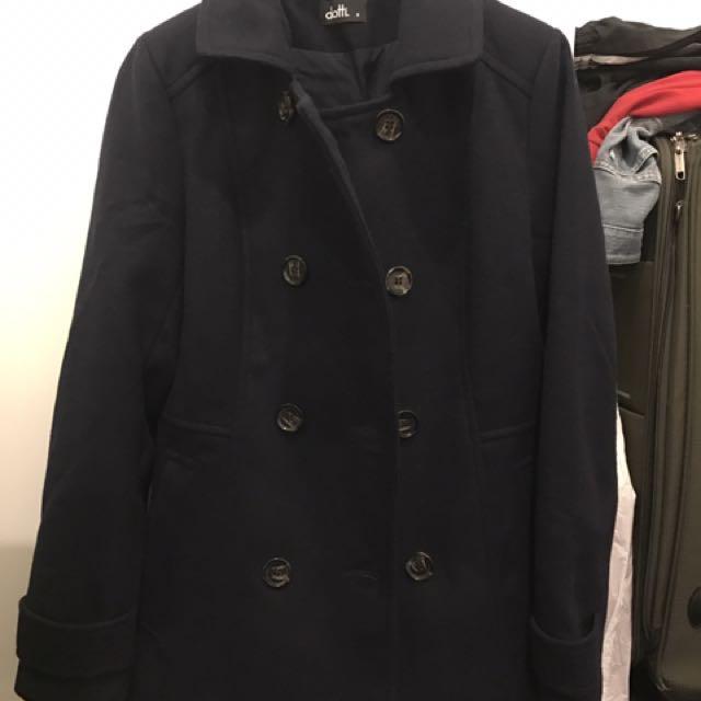 Navy Blue Dotti Coat