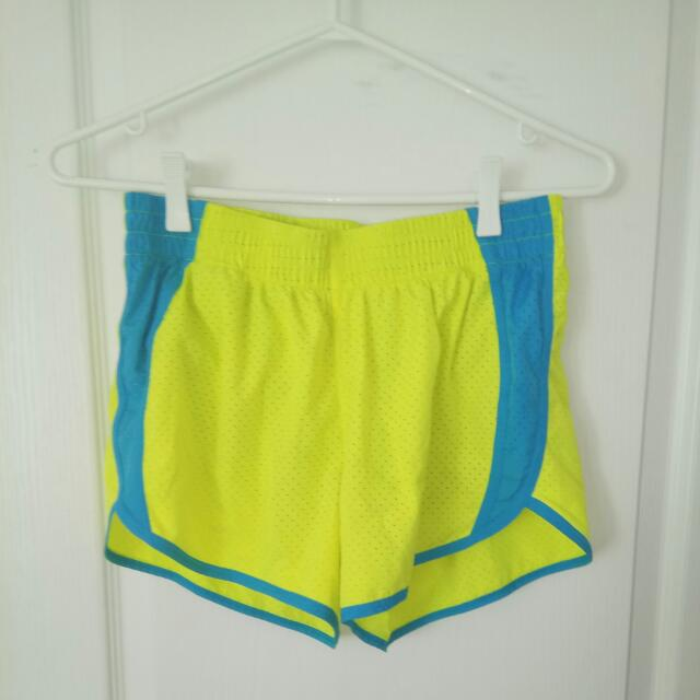 Neon Yellow Gym Shorts