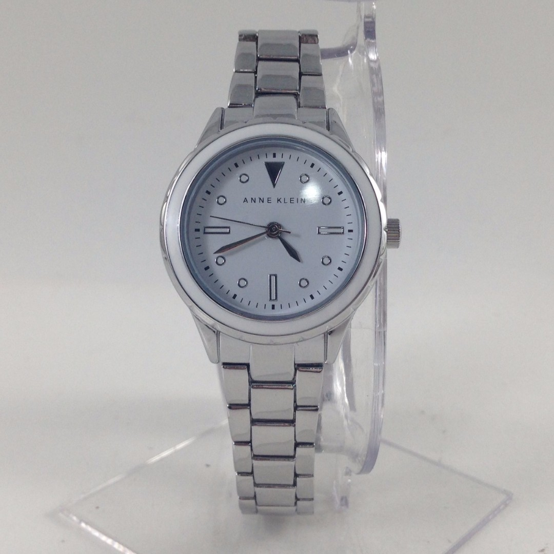 NEW AND AUTHENTIC ANNE KLEIN AK/2333 SVWT SILVER TONE BRACELET WATCH