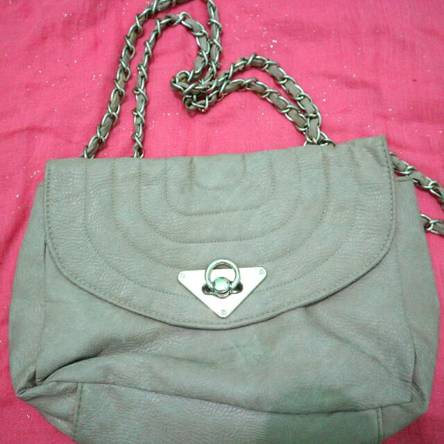 New Look Brown Chain Bag