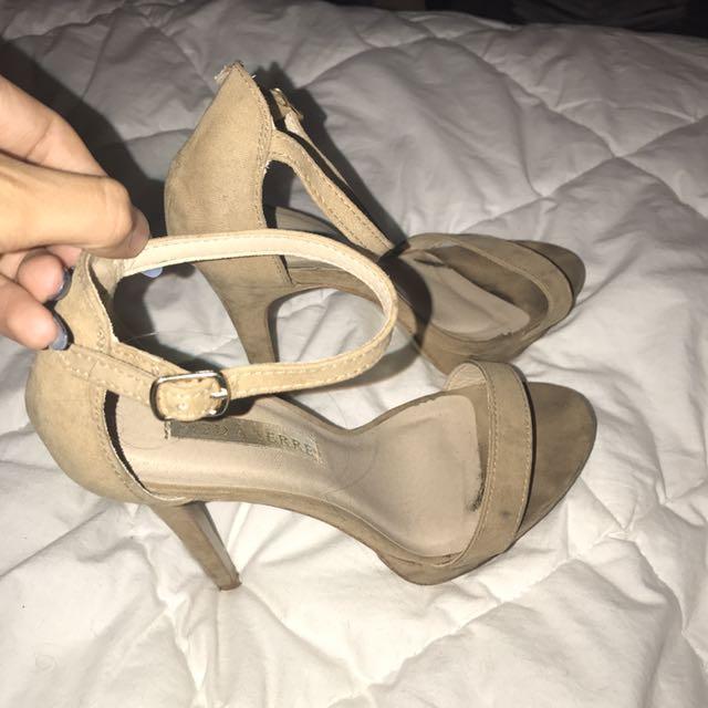 Nude / Tan Strap Heels