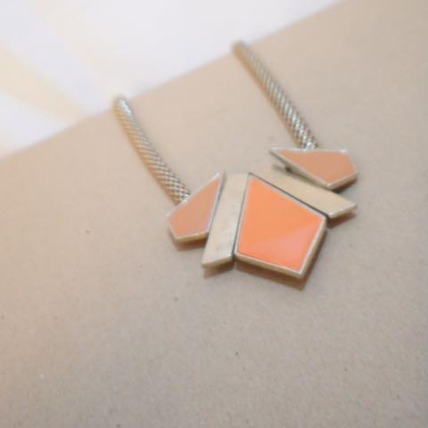 Orange Cut Out Necklace