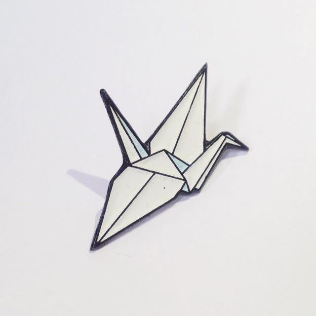 Paper Crane Enamel Pin