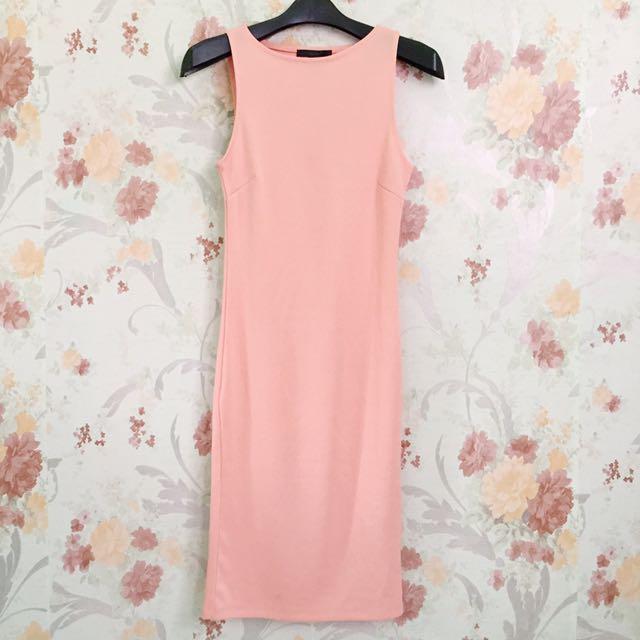 Peachy Bodycon Dress