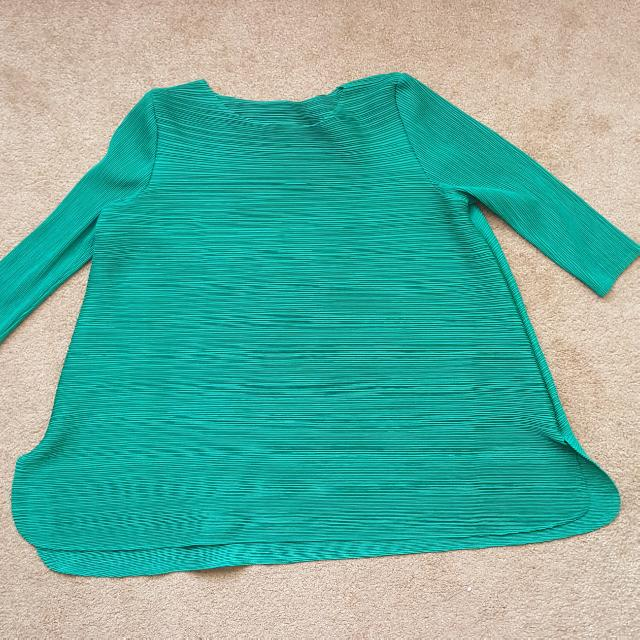 Pleats Top In Green