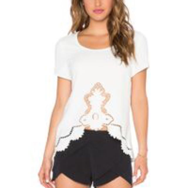 **Price reduced** White Top With Lace Detail