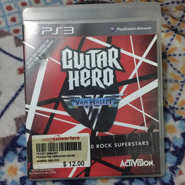 Ps3 Guitar Hero Van Halen Toys Games Video Gaming Video Games On Carousell