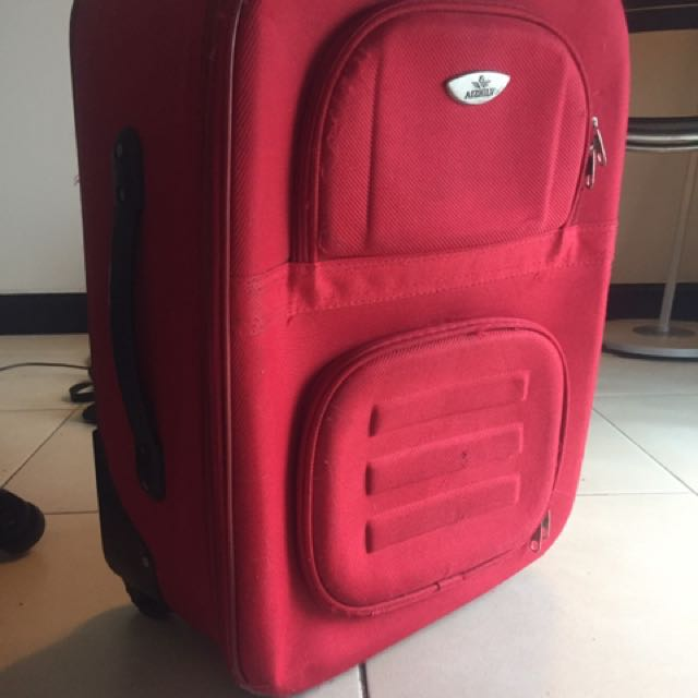 Red Hand Luggage Bag