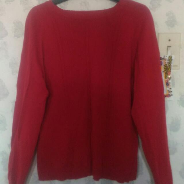 Red Knitted Longsleeves