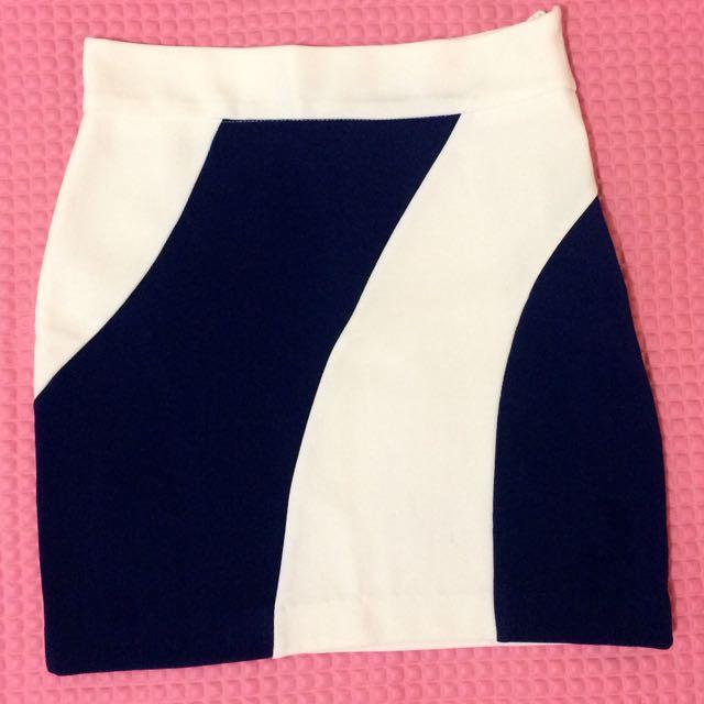 Rok Mini Biru Putih
