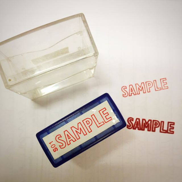 """SAMPLE"" Stamp. 印章"