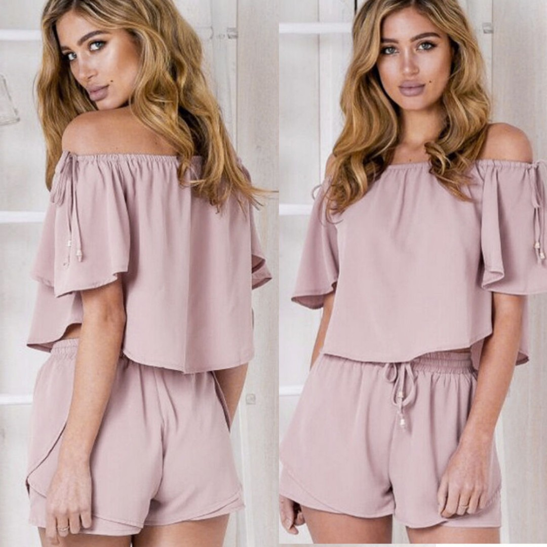 Sexy Off Shoulder Strapped Rompers