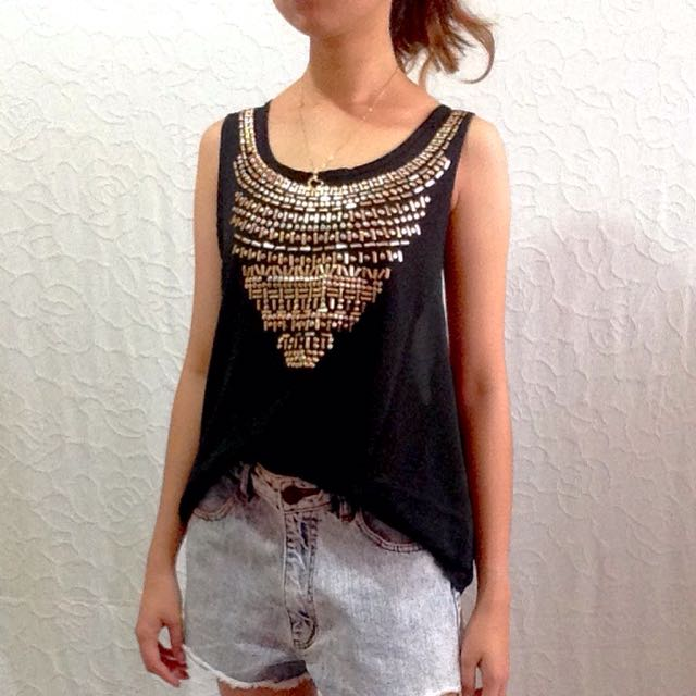 Studded Cover-up Top