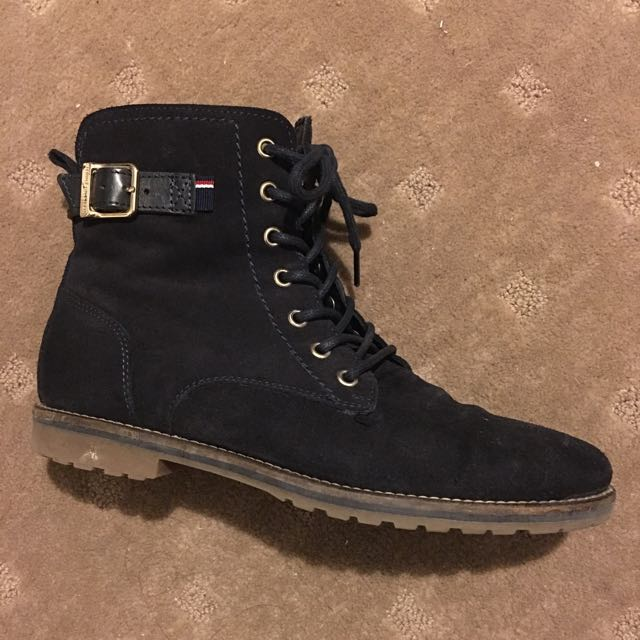 Tommy Hilfiger Navy Boots