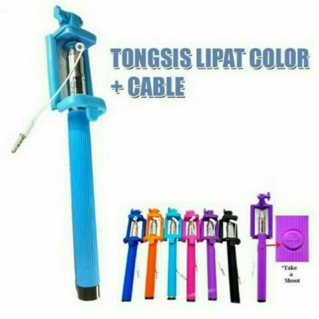 Tongsis Lipat + kabel