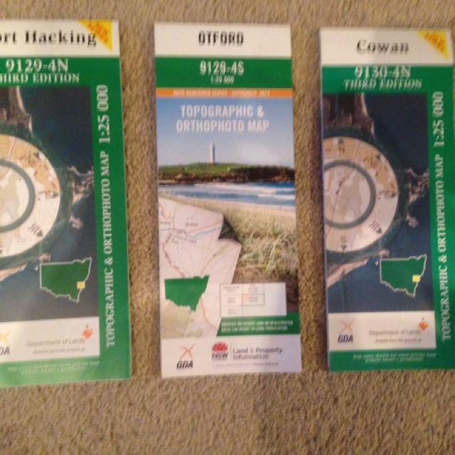 Topographic Maps: Port Hacking, Otford, Cowan