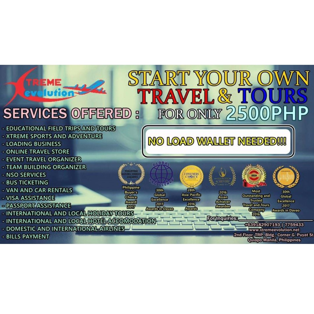 Travel Agency for only P2500 (make it ur own) on Carousell