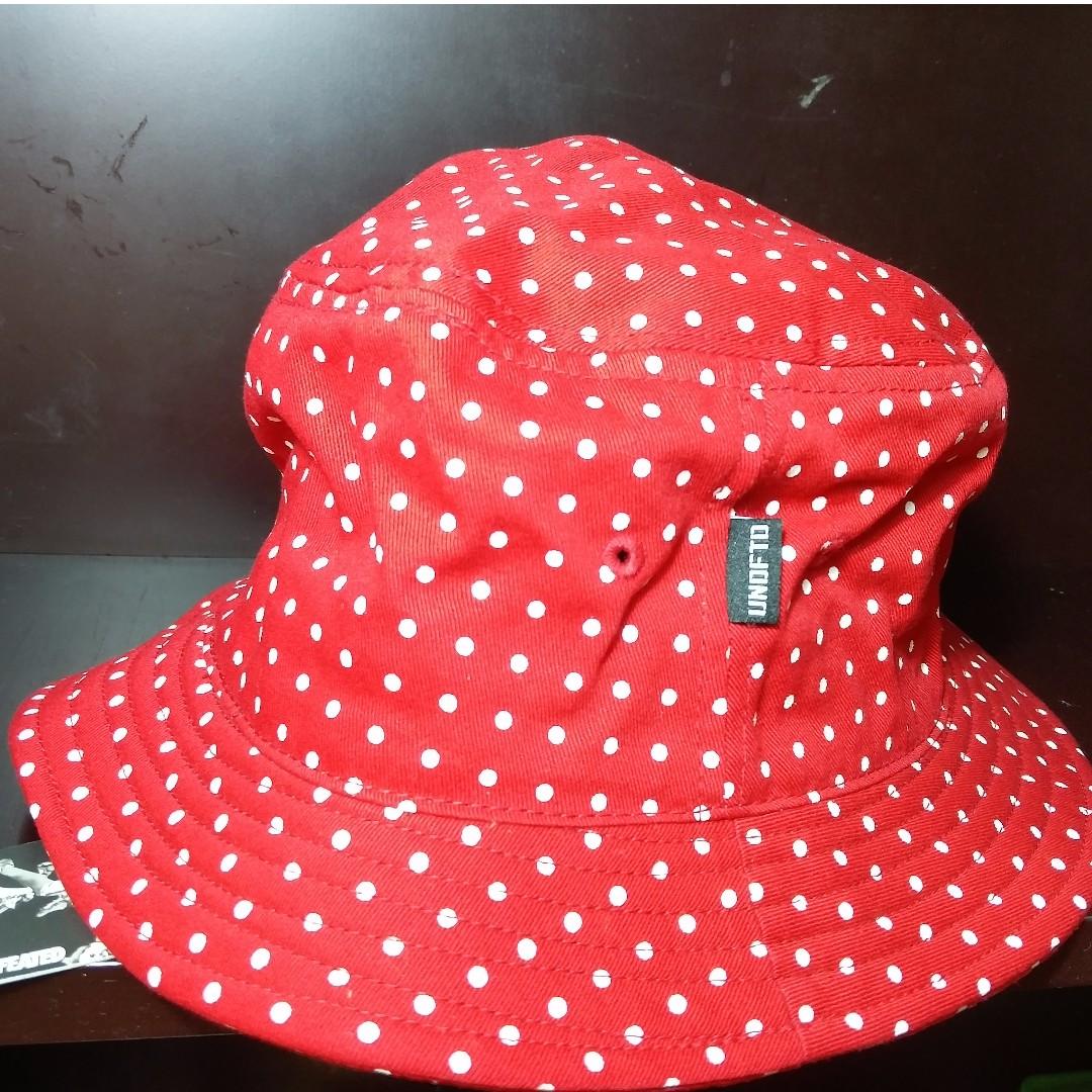df912637148 UNDFTD Red Polka Dot Bucket Hat Size  S M