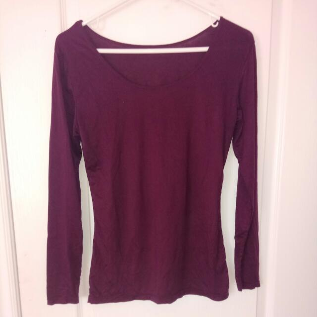 Uniqlo Purple Long Sleeve