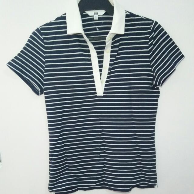 Uniqlo Striped Short Sleeves Polo