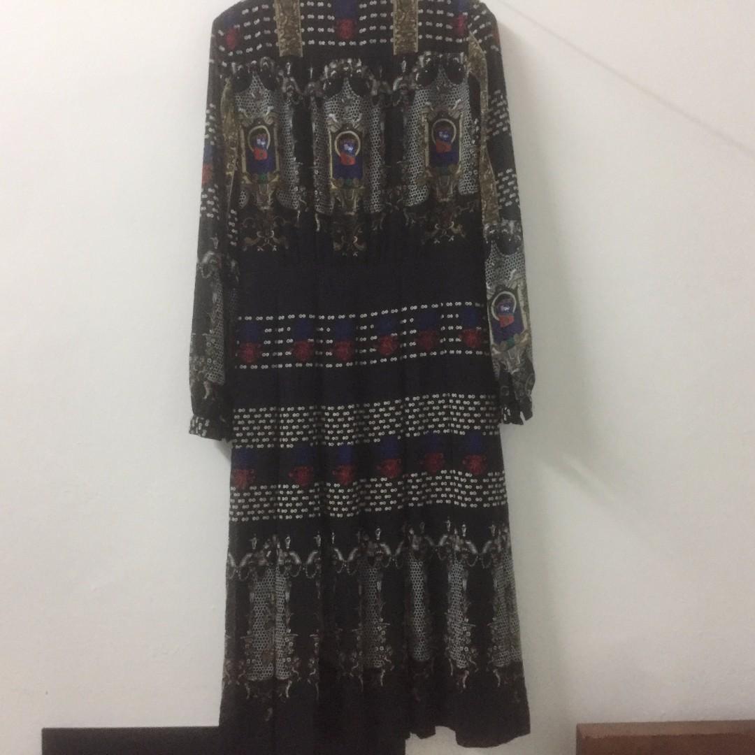 Vintage Korean Style Pleated Dress