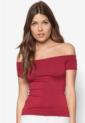Zalora Basics Off Shoulder Tee (Medium)
