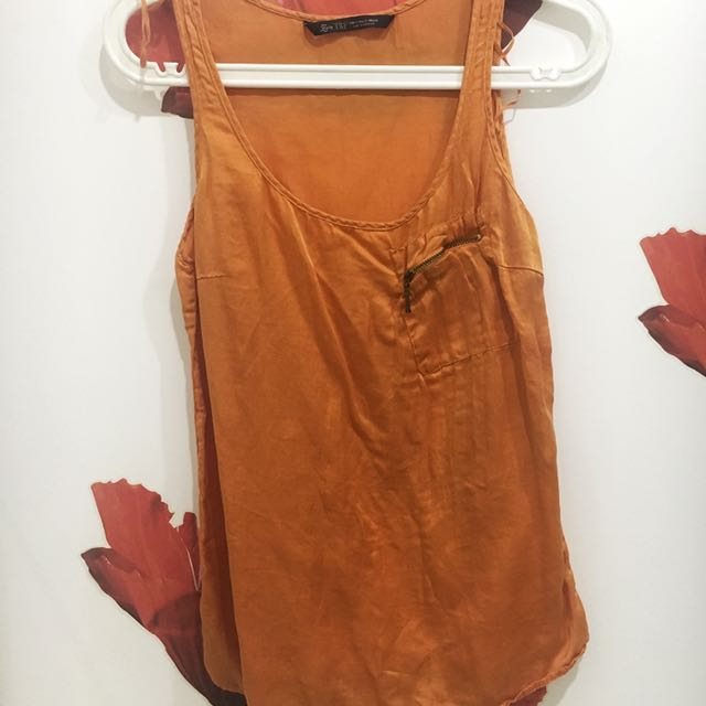 Zara Tank Top w/ Zipper Pocket Detail