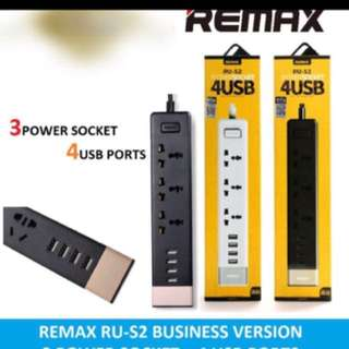 Lowest Priced Authentic Remax Power Socket RU-S2 Socket With 4 USB output.