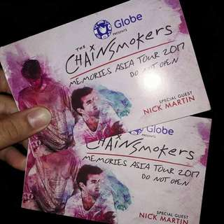 CHAINSMOKERS Ticket
