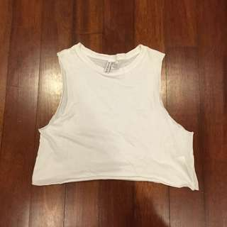 H&M Basic White Tank Too