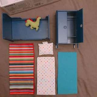 IKEA宜家家居 胡賽特 玩偶傢俱 迷你臥室家具