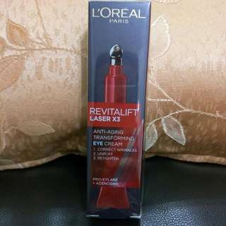 Loreal Revitalift Laser X3 Anti Aging Transforming Eye Cream