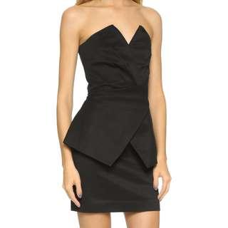 Sass & Bide - Forest Gossip Strapless Dress - Size 8 - Black - BNWT - RRP $630